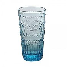 Set 6 bicchieri bibita Bitossi Home vetro celeste