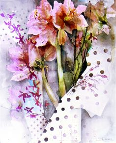 """Shirley Trevena, """"Amaryllis"""" One of my very favorite watercolor artists!"""