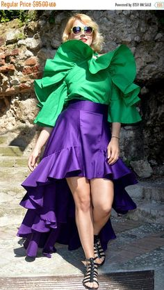 Steal the spotlight SALE 15% OFF Purple Ruffled Cotton Skirt Extravagant Ruffled https://www.etsy.com/listing/510171414/sale-15-off-purple-ruffled-cotton-skirt?utm_campaign=crowdfire&utm_content=crowdfire&utm_medium=social&utm_source=pinterest