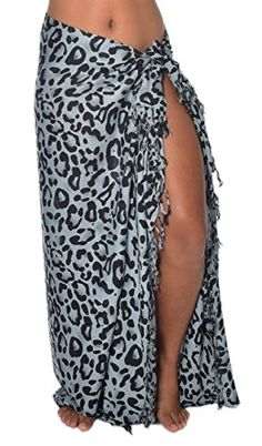 Casual Movements Womens Animal Print Swimsuit Coverup Leopard Grey70 x 45 >>> More info could be found at the image url.