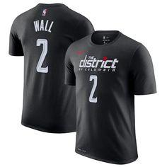 Men s Washington Wizards John Wall Nike Black 2018 19 City Edition Name    Number T-Shirt dcfb3b7a3