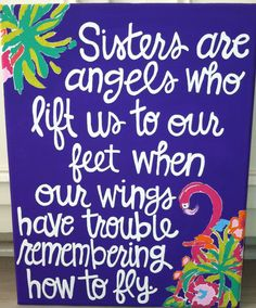 Hand painted Canvas Paintings by CraftsByCarlie on Etsy Cute Quotes, Great Quotes, Quotes To Live By, Inspirational Quotes, Motivational, Love My Sister, Sister Sister, Sister Gifts, Brother