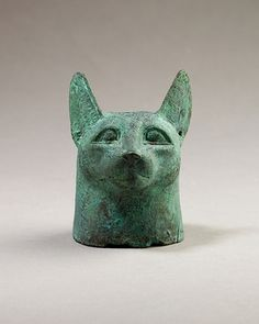 Head of a cat, 664–30 B.C. From Egypt. The Metropolitan Museum of Art, New York. Gift of Darius Ogden Mills, 1904 (04.2.468) #cats