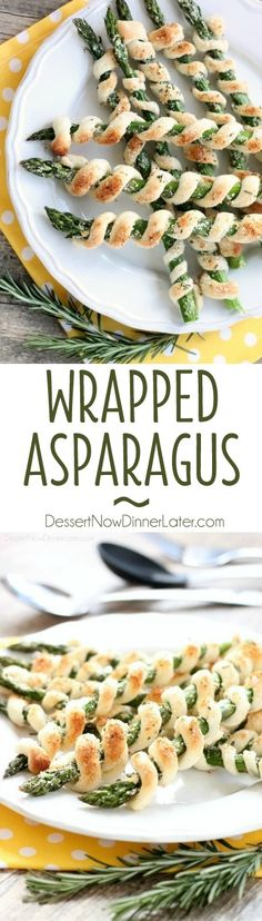 Easy and elegant, this wrapped asparagus is a delicious and light spring appetizer. Perfect for Easter too!
