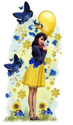 """Royal Blue & Yellow"" by milkandabsinth"