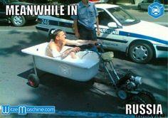 Russische Polizeikontrolle - Mann in Badewanne - Funny Russian Fail