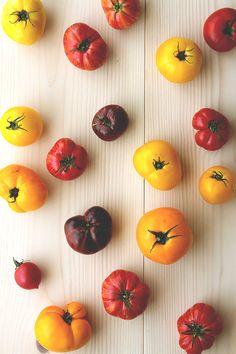 Heirloom Tomatoes for Bloody Mary Recipe // HonestlyYUM