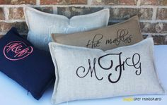 Embroidered #Monograms by MapleGrey #Etsy