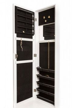 Jewelry Armoire Wall Mount, Hanging Over the Door Jewelry Armoire