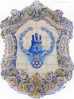 Estação de Caminho de fFrro, na Ribeira de Santarém.Azulejos da autoria de J. Oliveira, 1927 Rococo, Baroque, Portuguese Tiles, Tile Murals, Acanthus, Byzantine, Floral Motif, Diorama, Home Art