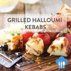 GRILLED HALLOUMI KEBABS Add a splash of colour to your braai this summer with this delicious kebab recipe. Ingredients 500g halloumi cut into cubes 300g cherry tomatoes 3 tbsps olive oil 2 tbsps chives chopped juice and zest from lemon 8 bamboo skewers soaked in water for 30 minutes Method - Thread the halloumi and cherry tomatoes onto the skewers alternating between the two starting and ending with the cheese. Transfer the skewers to a baking sheet and brush with the olive oil. - Grill the…