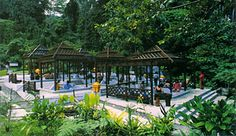 Poring hot springs in Mount Kinabalu, Borneo, Malaysia