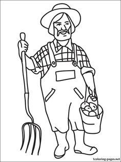 이미지 출처 http://1coloring-pages.net/coloring/professions/farmer.jpg
