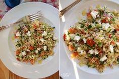 Быстрый салат из кускуса фетой и овощами
