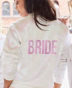 For JLM Couture brides looking to sparkle and shine with their bridesmaids while getting ready for their wedding, Hayley Paige's Sequin Athleisure line is perfect for you! Bride Dressing Gown, Oversized T Shirt Dress, Hayley Paige, Bride Look, Ladies Night, Athleisure, Bridesmaids, Wedding Planning, Wedding Day