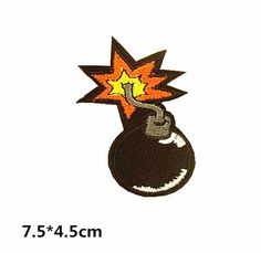 bomb cool decorate embroidered patch iron on patch sew on patch patches iron on patch sew on patch Embroidery embroidered patch iron on patches patch embroidery patch back patch Personality decorate cool bomb