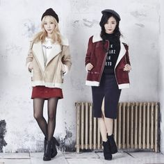 Girls' Generation Taeyeon and Tiffany fashion from Mixxo Taeyeon Jessica, Kim Hyoyeon, Seohyun, Girls' Generation Taeyeon, Girls Generation, Snsd Fashion, Girl Fashion, Kpop Girl Groups, Kpop Girls