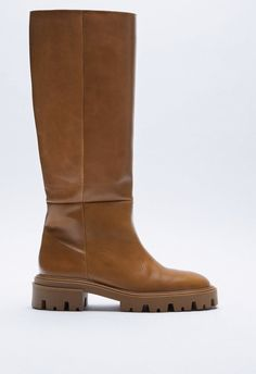 Flat Leather Boots, Riding Boots, Zara, Wedges, Flats, Shopping, Shoes, Fashion, Horse Riding Boots