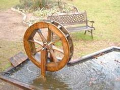 So you want a waterwheel in your yard?  Here's a plan.