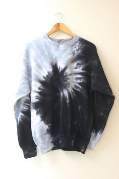 Hottest Screen Black and Gray Tie-Dye Unisex Crewneck Sweatshirt Popular For this easy reservoir prime dress, I chose to employ a dark shade, a dime color, and a bordeaux. Shirt Diy, Diy Tie Dye Shirts, Diy Sweatshirt, How To Tie Dye, Tie And Dye, Diy Grey Tie Dye, Shirt Makeover, Bleach Tie Dye, Tye Dye