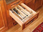 Cut-To-Size Insert Wood Utensil Organizer for Drawers    www.modernmillworkinnovations.com