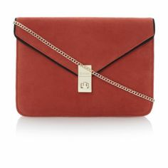 DUNE ACCESSORIES Bright BLOCKIES - Oversized Suede Envelope Clutch Bag | Dune Shoes Online