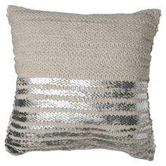 Henrietta Cushion with Silver Stripes