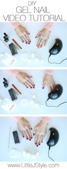 How to Do Gel Nails at Home! So easy, fast, and inexpensive. + get a 70% off coupon code for the LED light I use! | www.LittleJStyle.com
