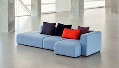 Mags sofa has many upholstery options which enables the sofa to find its own personality - HAY Sofa Design, Furniture Design, Timeless Design, Modern Design, Furniture Placement, Modular Sofa, 3 Seater Sofa, Danish Design, Home Projects