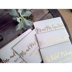 Gold Calligraphy | Mint & Maple