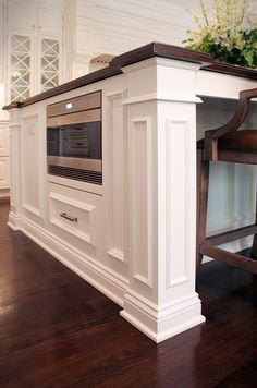 Classic White Kitchen - traditional - Kitchen - Cleveland - House of L Interior Design Luxury Interior Design, Interior Design Kitchen, Coastal Interior, Beautiful Kitchens, Cool Kitchens, Modern Kitchens, Microwave In Island, Microwave Drawer, Hidden Microwave