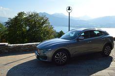 So eine schöne Aussicht und der Tegernsee mit Bergen. Der Maserati Levante.