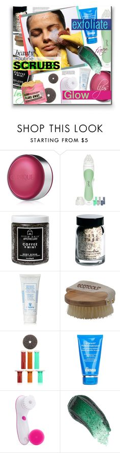 """""""Beauty Routine - Scrubs"""" by watereverysunday ❤ liked on Polyvore featuring beauty, Clinique, PMD Personal Microderm, Little Barn Apothecary, Bobbi Brown Cosmetics, Sisley, Dr. Brandt, Clarisonic, Omorovicza and Soap & Glory"""