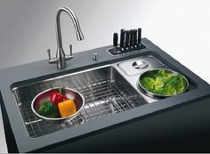 Modern Kitchen Design – Want to refurbish or redo your kitchen? As part of a modern kitchen renovation or remodeling, know that there are a . Steel Kitchen Sink, Kitchen Sink Design, Modern Kitchen Design, Kitchen Pantry, Kitchen And Bath, New Kitchen, Kitchen Dining, Kitchen Decor, Kitchen Appliances
