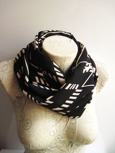 Tribal Scarf  Tribal İnfinity Scarf Black Scarf  Fashion Scarf by dreamexpress from dreamexpress on Etsy. Find it now at http://ift.tt/29GUfSJ!