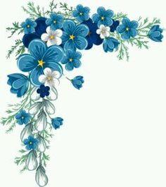 New vintage flowers frame decoupage ideas Little Flowers, Blue Flowers, Blue Flower Png, Exotic Flowers, Yellow Roses, Pink Roses, Flower Frame, Flower Art, Art Flowers