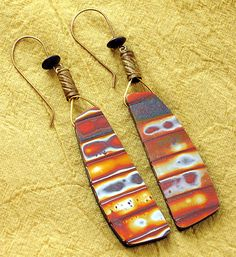Christine Damm | Serengeti earrings polymer clay