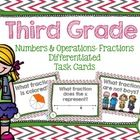 These 60 task cards will give your third graders lots of practice with tricky fraction skills! They are differentiated so the skills get increasing...