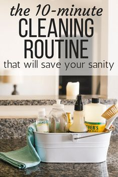 This simple daily cleaning routine will revolutionize your schedule and help you keep your home much cleaner without a ton of effort! Just 10 minutes a day will help you keep your home cleaner and more organized. Weekly Cleaning, Cleaning Checklist, Deep Cleaning, Spring Cleaning, Cleaning Hacks, Cleaning Supplies, Cleaning Routines, Cleaning Schedules, Daily Schedules