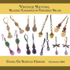 In this beginners class, we will create two pairs of beaded wire earrings, learn about closed loop techniques, vintage jewelry designs, and color theory. Tools will be provided. Materials fee $10.