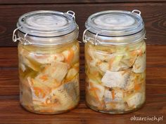 Polish Recipes, Fish Dishes, Mason Jars, Food And Drink, Recipies, Polish Food Recipes, Mason Jar, Glass Jars, Jars