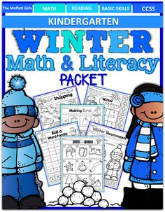 The Moffatt Girls: Winter Math and Literacy Packet (Kindergarten)!