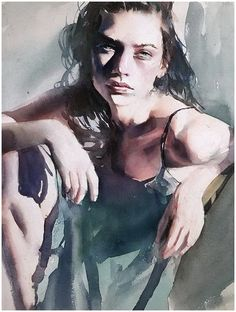 Marcos Beccari , watercolor portrait #watercolor #portrait #art #humanfigure #painting
