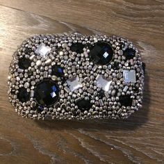 Jeweled clutch- perfect for the holidays! 30% goes to best friends animal society bebe Bags Clutches & Wristlets