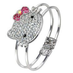 AllyDrew Kitty Crystal Bangle Bracelet   This Kitty Crystal Bangle Bracelet is cute and one of a kind. The bangle is made out of zinc Read  more http://shopkids.ca/allydrew-kitty-crystal-bangle-bracelet/