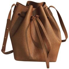 Pre-owned Kenneth Cole New York Dover Street Drawstring Bucket Tan... ($122) ❤ liked on Polyvore featuring bags, handbags, shoulder bags, tan, leather crossbody, crossbody shoulder bags, brown crossbody, crossbody purse and brown shoulder bag