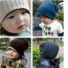5 색 아기 아이 유아 유아 비니 모자 따뜻한 겨울 소년 소녀 모자 어린이 액세서리 HT07