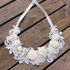 Relisted tonight on Etsy, this gorgeous statement necklace, perfect as a bridal accessory with a simple, strapless dress