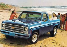 1979 Chevy  Pickup Truck. Every girl needs an old truck. My first truck was like this one but white. I loved my truck.