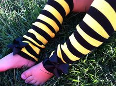 BUMBLEBEE LEG WARMERS Bumblebee Halloween Costume by SparkleToes3